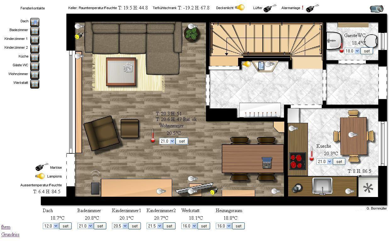 floorplan darstellung der devices. Black Bedroom Furniture Sets. Home Design Ideas